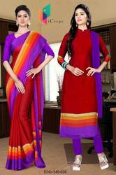 Uniform Saree Salwar combo for hotel