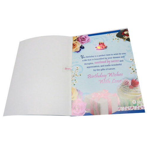 Multicolor Musical Greeting Card