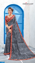 Grey Color Georgette Saree