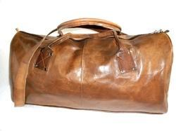 Handicraft Villa Brown Genuine Leather Duffel Travel Bag