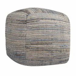 New Blue Denim Square Home Decor Pouf outdoor Stool for Living Room