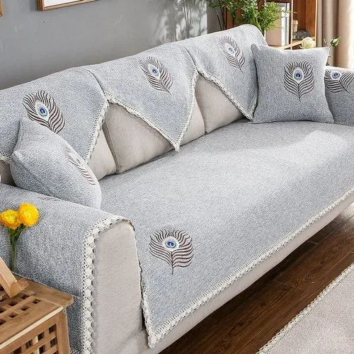 Embroider Embroidered Cotton Sofa Fabric