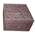 Soapstone Square Jaali Box For Home Decor