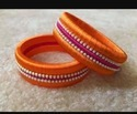 Orange And Pink Silk Thread Bangle