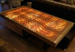 Unique Wooden LED-lit Table Top
