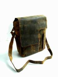 Vintage Flap Leather Messenger Bag
