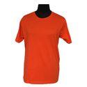 Orange Round Neck Staff T-Shirt