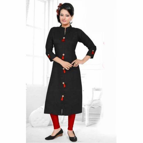 0aebb7d81b23 Casual Wear Plain Ladies Ethnic Georgette Kurti, Rs 390 /piece | ID ...