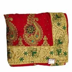 Red Festive Wear Ladies Banarasi Silk Saree, 6.3 m (with blouse piece)
