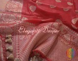 Silk Linen Banarasi Designer Saree