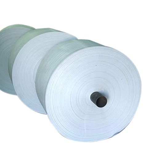 White HDPE Woven Fabric Roll