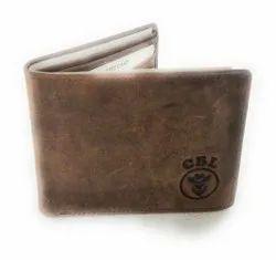Brown Bi Fold CBL Men''''s Pure Leather Wallet, Card Slots: 7, 3 Pockets