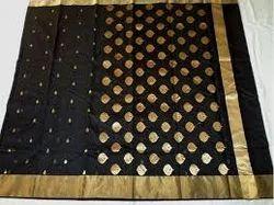 Chanderi Saree with Blouse Piece, Saree Length: 6.3 m