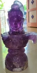 Shivling Of Lord Shiva Statue Of Natural Amethyst