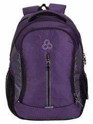 Purple-L.Gray Elegant Stylist Casual Backpack Bag