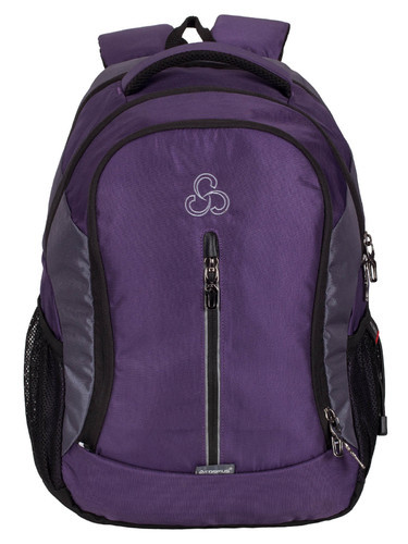Polyester Purple-L.Gray Elegant Stylist Casual Backpack Bag