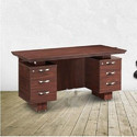 Brown Wooden Aviator Nilkamal Office Table, Warranty: 6 Month