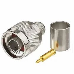 LMR 400 RF Male Connector, 0.5 mm, Contact Material: Gold, Silver