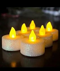 Round Warm White ALZ Led Candle Sparkle, For Home