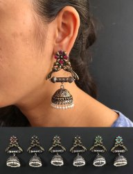 Stylish German Silver Earrings