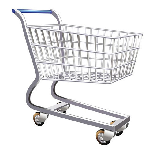 Stainless Steel Super Market Shopping Trolley
