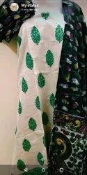 Weaving chanderi suit with kalamkari fusion