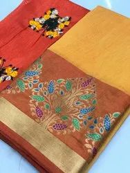 Fancy Cotton Ladies Indian Saree