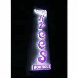 ACP Rectangle Boutique Acrylic LED Sign Board