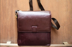 Brown Unisex Stop By And Say Bag
