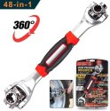 48-in-1 Multi Wrench Socket Wrench Dog Bones Long Wooden Paint Spanner Wrench Universal Rotation
