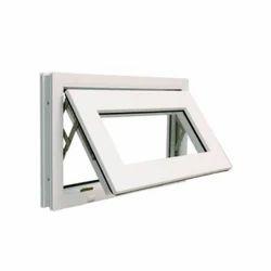 White 4 Feet UPVC Top Hung Window