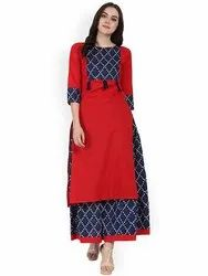 Ladies Designer Kurti with Printed Ghagra