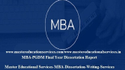 MBA Final Year Dissertation Report Service Provider for XLRI In  India