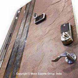 6 Feet Thin Stone Veneer Flush Doors, For Wall