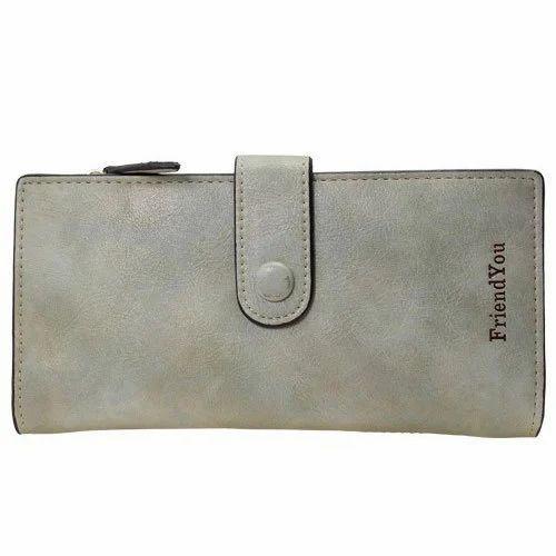 78f153dd619 Grey Leather Ladies Hand Purse, Rs 639 /piece, Sterling Deco | ID ...