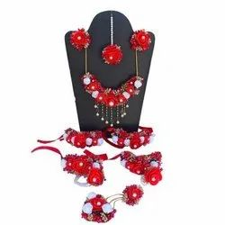 Female Foam Flower Wedding Ladies Necklace Set