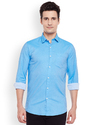 Sky Blue Full Sleeves Casual Shirts