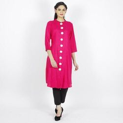 Womens Straight Fit Long Kurta