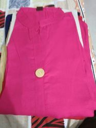 Ladies Pinc Colour Cotton Kurti