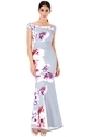 Fashion Square London Western Floral Print Mermaid Maxi Dress
