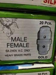 Male Female Heavy Brass Parts