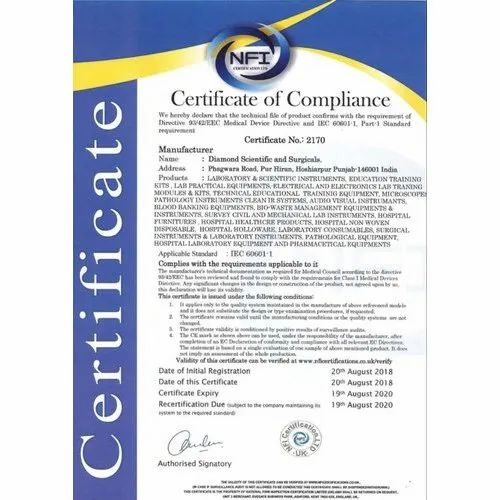 Individual Consultant Iec 60601 Compliance Services Id