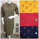 3/4th Sleeves Ladies Cotton Kurtis