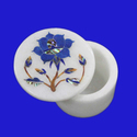 Marble Inlay  Round Boxes