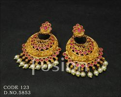 Traditional Antique Matt Earrings