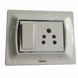 Polycarbonate White Cona Modular Switches, Switch Size: 1 Module