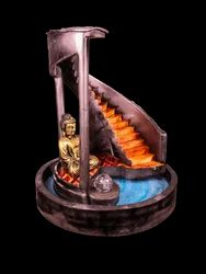 Designer Ladder Fountain With Gautam Buddha Statue
