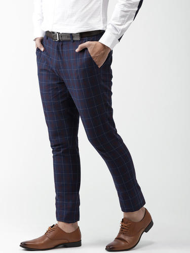 ef2a1ed37a1 Men Checked Linen Formal Trousers at Rs 450  piece