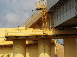 GRP Handrails System On Railway Bridge