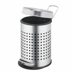 Parasnath Stainless Steel Perforated Pedal Dustbin with Plastic Bucket